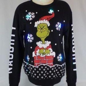 Dr Seuss Enterprises Sweaters Grinch Ugly Christmas Light Up